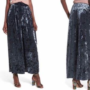 Leith velvet wide Leg high waist pants
